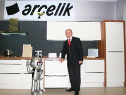 Arcelik corporate photo showing banner