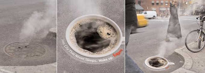brand impact of a Folgers' out of home ad