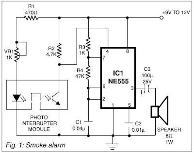 All Electronics: Smoke alarm project using 555 timer IC
