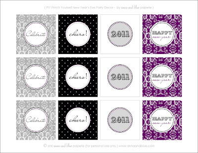 gift tags wine tags garlandbanner napkin rings straws food labels and more so many ways to decorate for your new years eve party