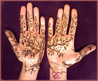 bridal henna tattoo