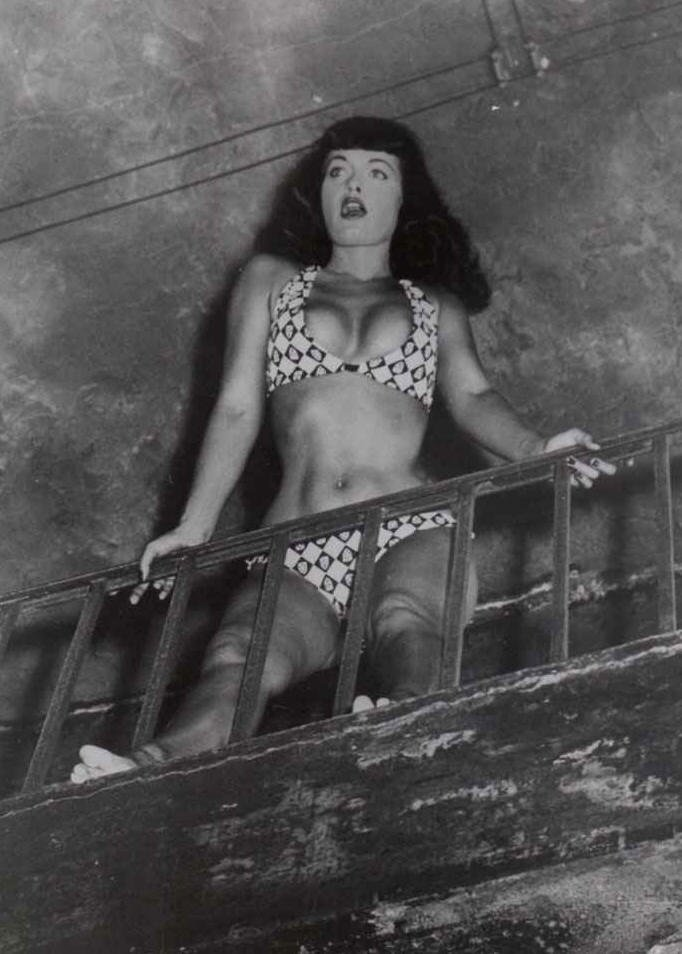 Betty Page Photos: Film Noir Photos: Fished From The Bitstream