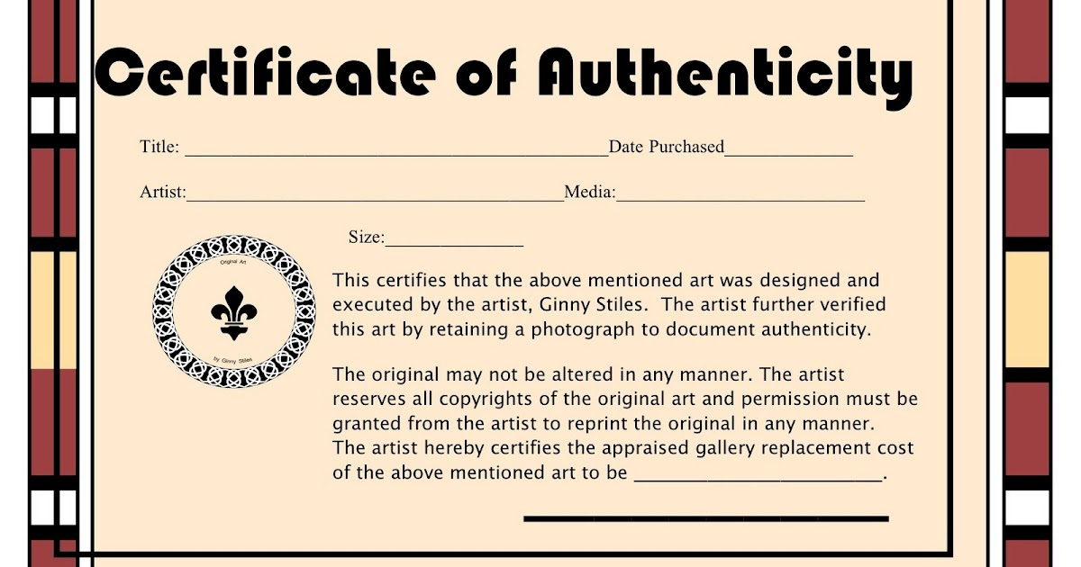 An artist labyrinth ginny stiles czt certificate of authenticity yadclub Images