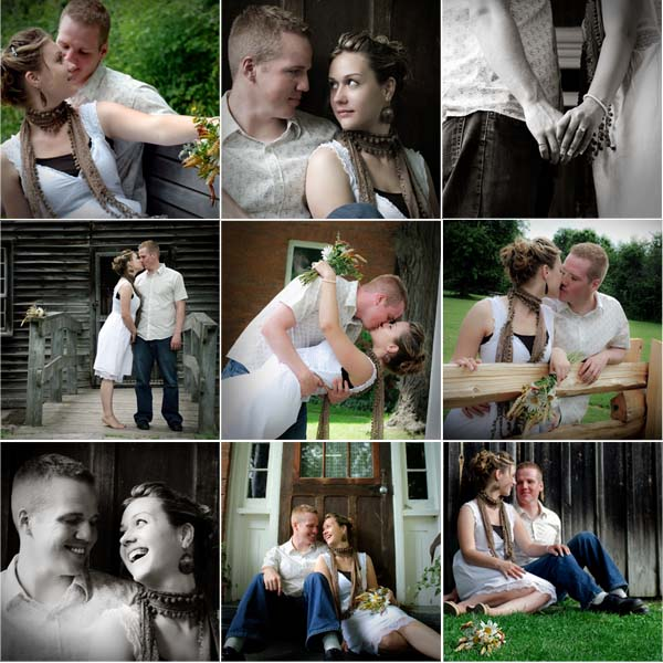 Collage of Our Engagement Photos: