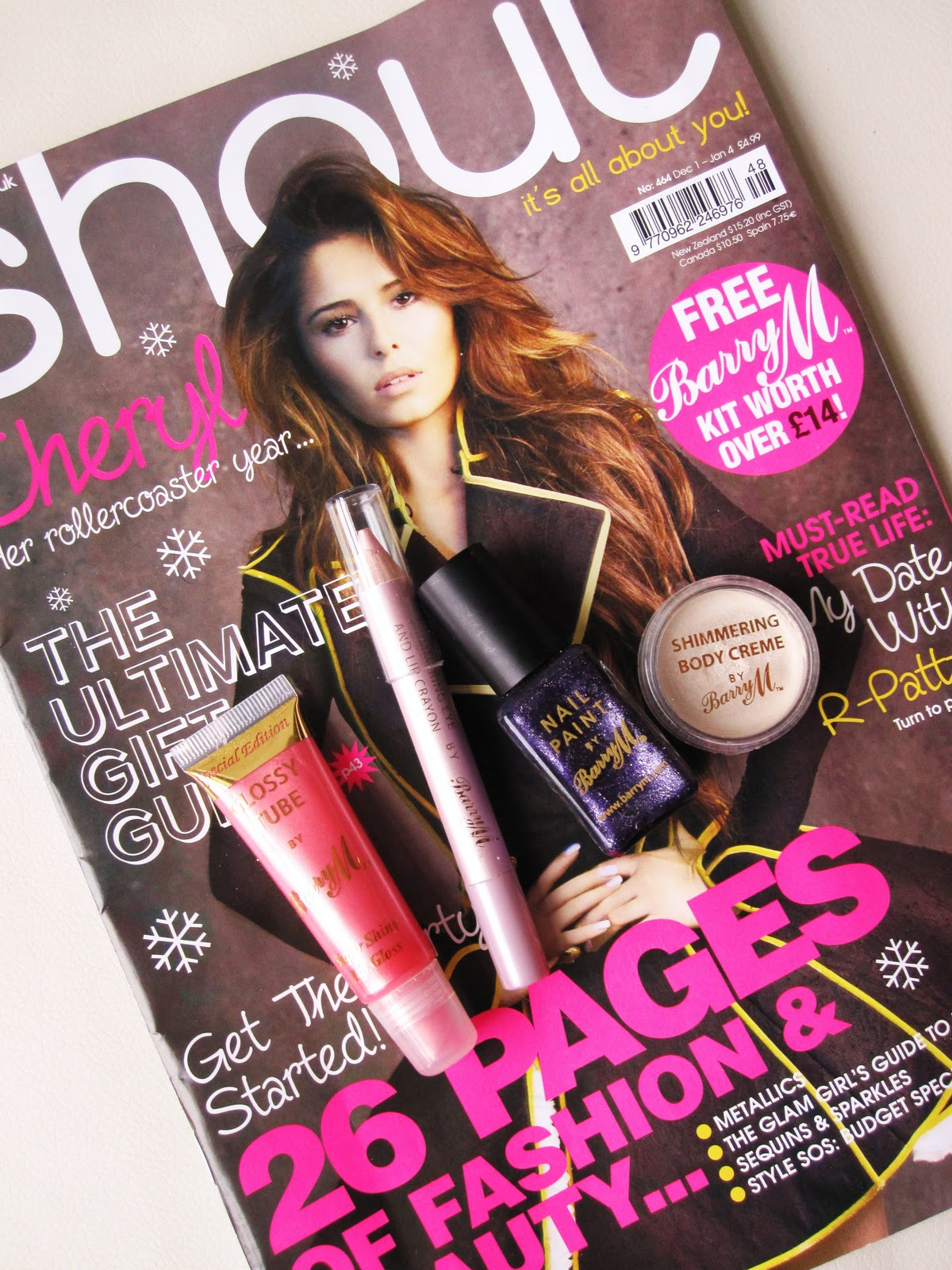 Free Barry M Makeup With Shout Magazine!
