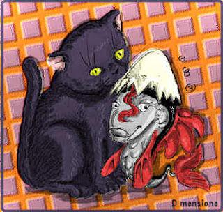 Il gatto ed il pesce-calimero