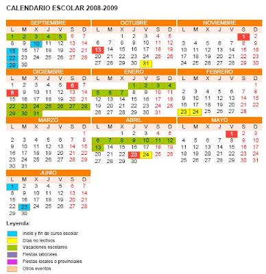 Calendario Escolar Valladolid.Rmi Valladolid Calendario Escolar Para El 2008 09