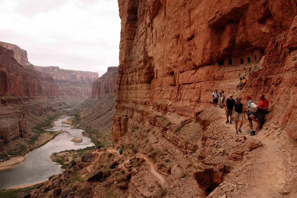 Grand Canyon hiking trail to Indian ruins by Jeanne Selep