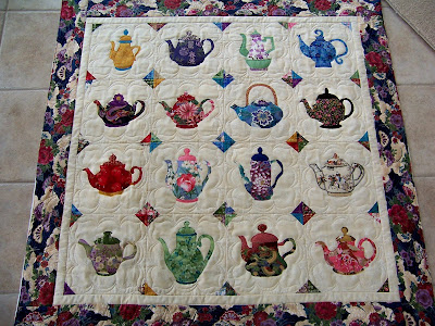Finely Finished Quilts Pat S Teapot Quilt