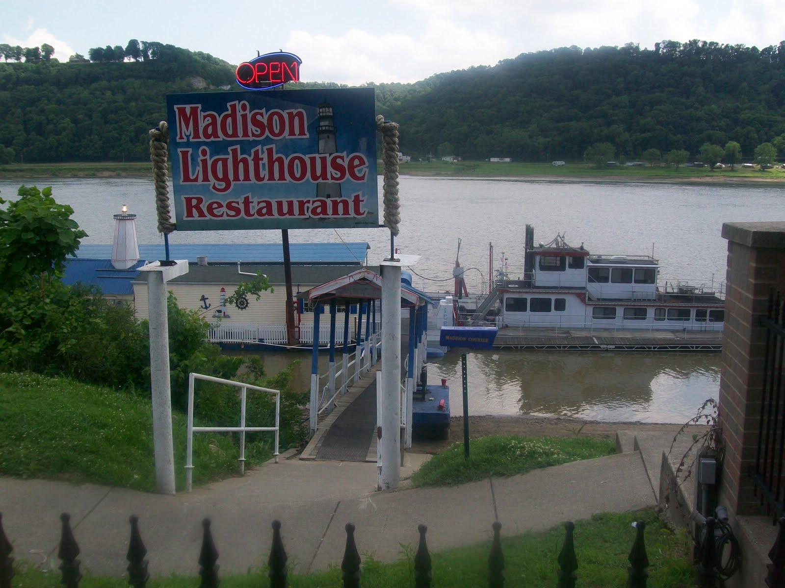 While Exploring We Found The Madison Lighthouse On River I Love Side Restaurants So Had To Stop In