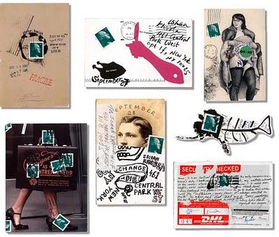 pocztówki w różnym stylu