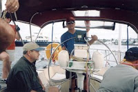 Fort Lauderdale to Bahamas Sailing Trip: Capt. John at the Helm