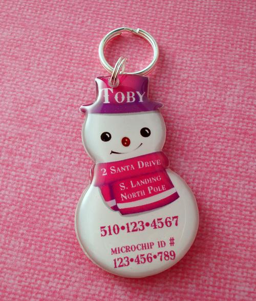 New Snowman Pet Id Tag ~ Happy Tags Blog