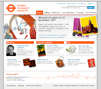 London Transport Museum website--HOME