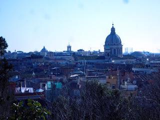 Vista de Roma do alto da Colina Pincio