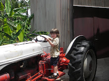 Anthony still LOVES tractors!!