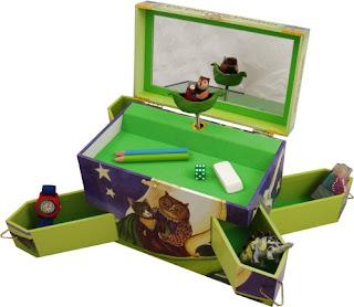 My Owl Barn Owl And Pussycat Musical Treasure Box