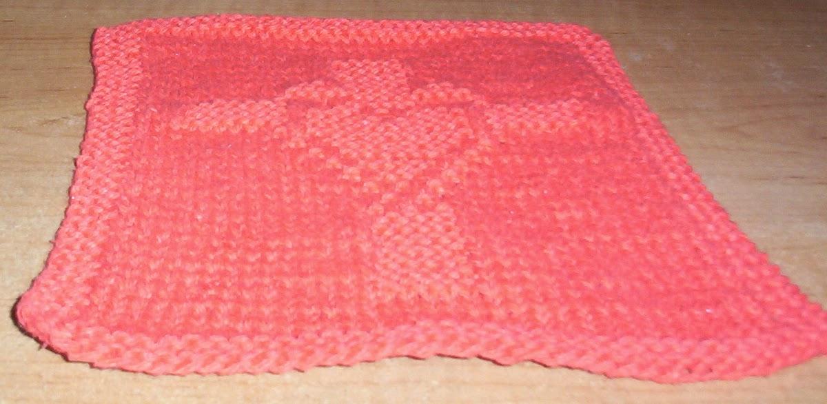 Aunt Kathys Place My Original Patterns Shellys Heart Dishcloth