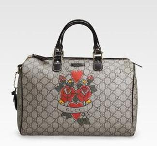 71bfe9bc5cc2 Gucci got a tattoo - a collection of a heart tattoo on bags, to be exact,  to help save children's life. When you purchase an item from the white  TATTOO ...