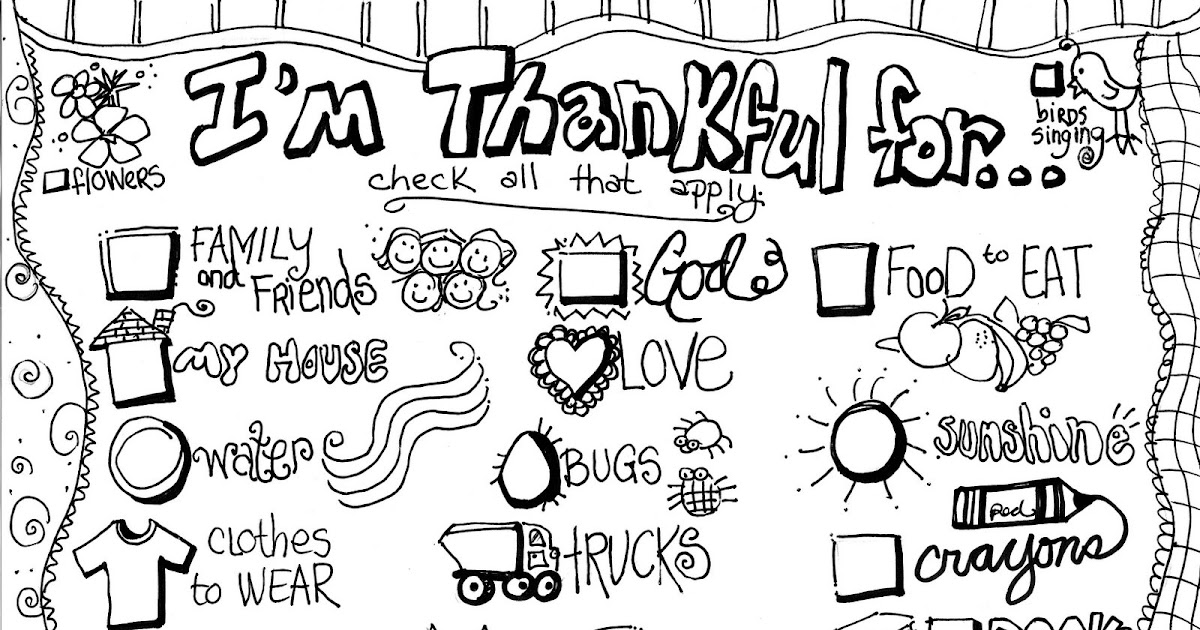 grateful coloring pages - photo#2