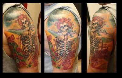 Grateful Dead Tattoos Gd Tattoo 77 Bertha Half Sleeve