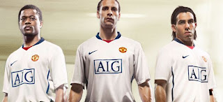 newest e8f41 6b0fb The Football Kit Room: 2008-09 Manchester United Away Kit