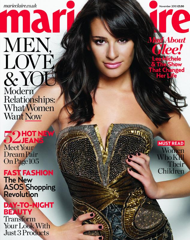 Lea michele sexy photo shoot for marie claire uk november 2010 mind relaxing ideas - Lea michele diva ...