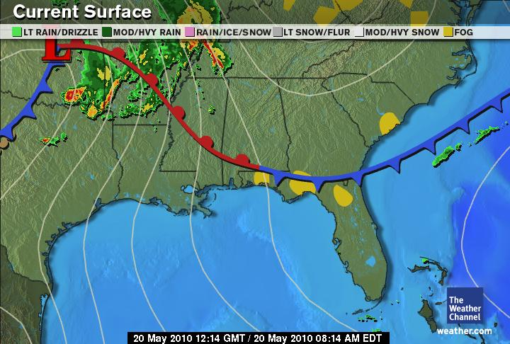 Weather Map Report.Agricultural Emergency Report Florida Weather Forecast