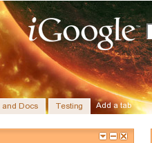 iGoogle planet theme