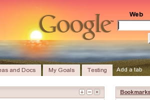 Google beach theme