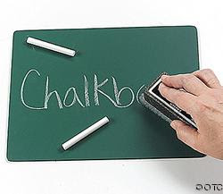 Erase the chalkboard