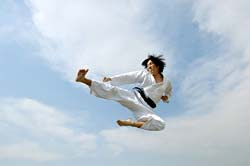 Flying side kick