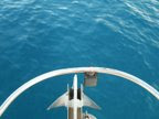 El agua azul