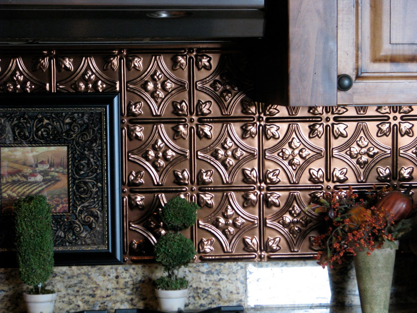 Life And Style A To Z T Tin Tile Backsplash