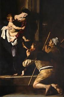 Caravaggio a Roma: madonna dei pellegrini