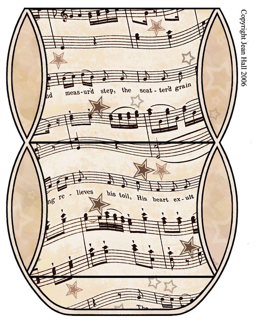 picture relating to Vintage Sheet Music Printable named ArtbyJean - Basic Sheet New music: Printable Reward Box or Cleaning soap