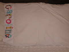 appliqued pillowcase