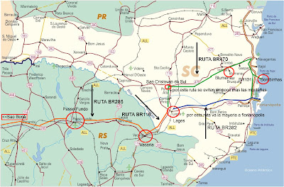 De catamarca a florianopolis mapas carreteros rodoviarios for Ruta0 buscador de rutas