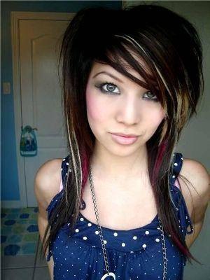 Emo Hairstyles Emo Hair Fashion Medium Length Emo Hair Style For Girls