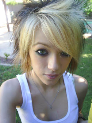 Blonde emo hair cuts for emo girls