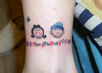 Cute Temporary Small Lovers  Tattoo