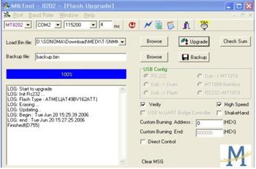 MTK TOOL actualización firmware en proceso Samsung.