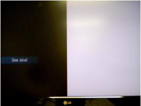 Mitad de la pantalla oscura en televisores LCD.