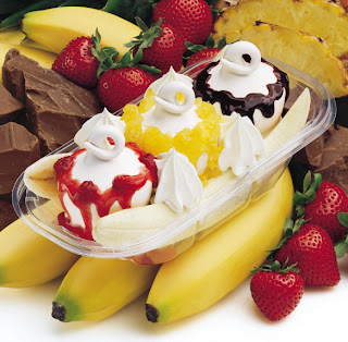 receta de  banana split!!!