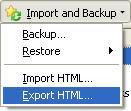 export bookmarks in Firefox
