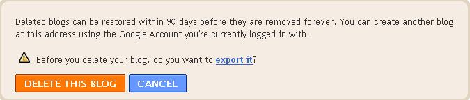 confirm to delete blog