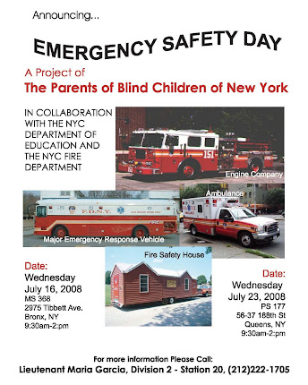 Emergency Preparedness for Blind Children