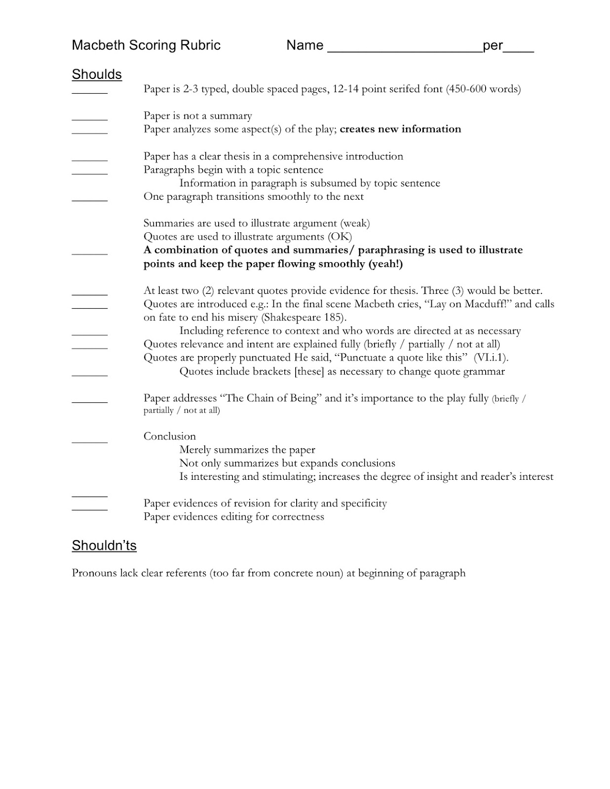 Economic research paper format
