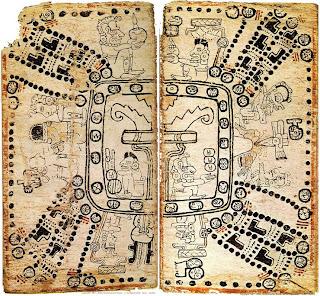 El modelo maya del mundo, según el Códice Madrid o Tro-Cortesiano.