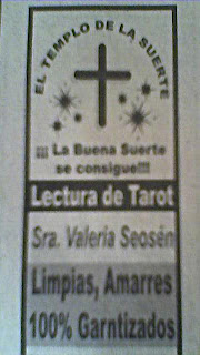 Anuncio clasificado de tarotista. Noroeste Mazatlán, 9 de mayo de 2008.